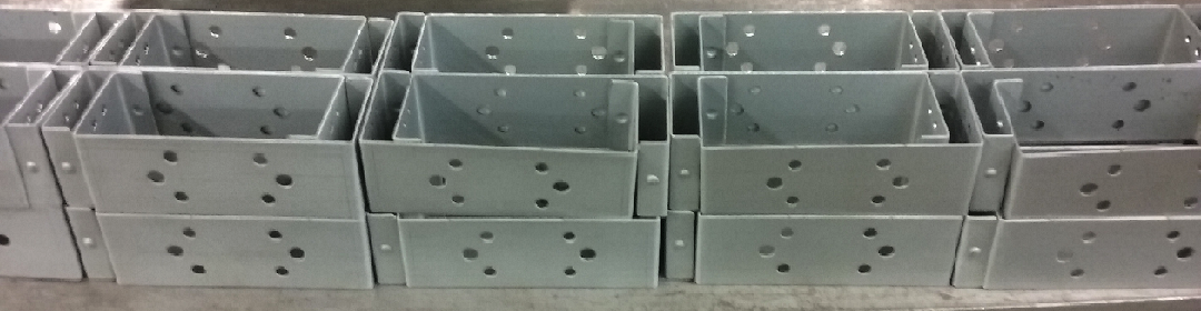 Sheet metalwork manufactured units